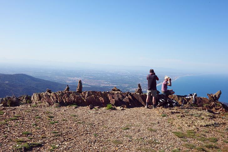 Utsikten norrut över Roussillon-kusten från Tour Madeloc
