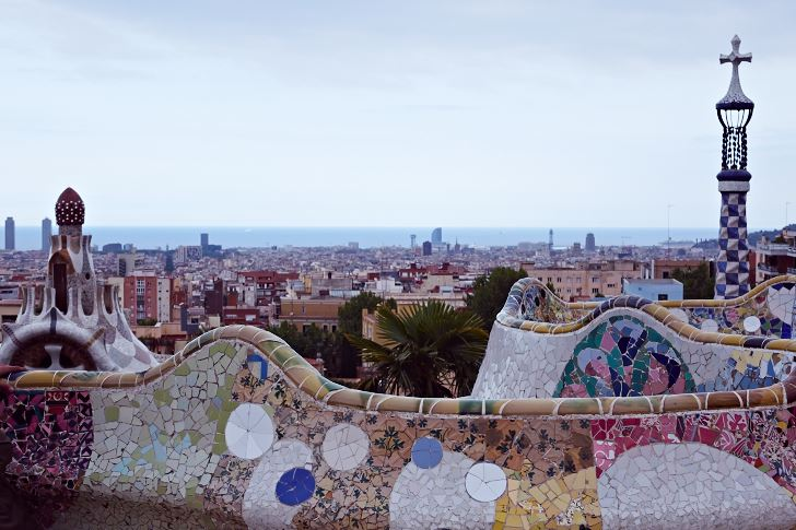 Utsikt över Barcelona från Park Güell