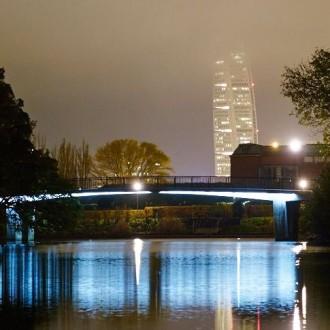 Slottsparken by night