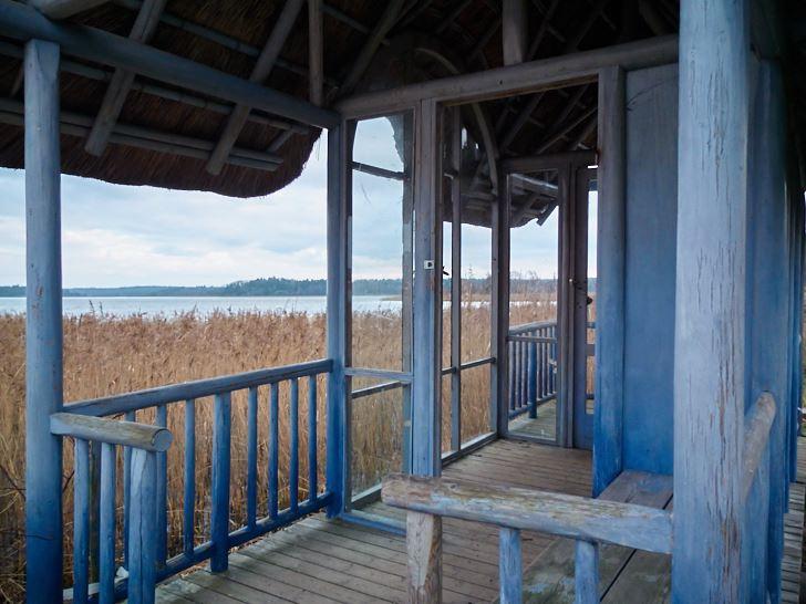 Meditationshuset vid Östersjöns strand