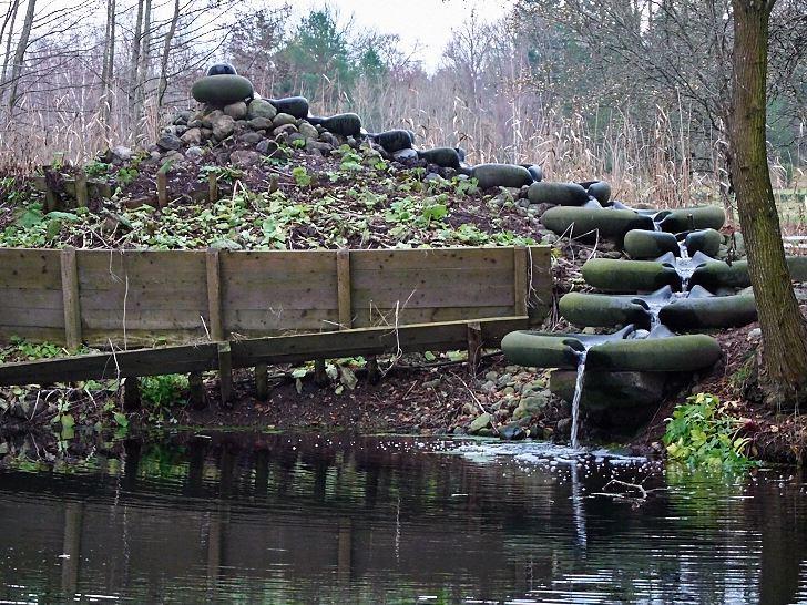Flow forma kallas de gjutna formar där vattnet gungar fram och tillbaka och stilla men bestämt syresätts.