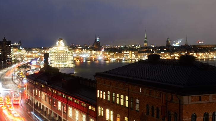 Utsikt från Fjällgatan i riktning mot Gamla stan
