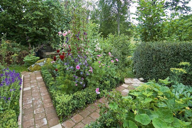 Wåhlins kvartersindelad köks- och blomsterträdgård.