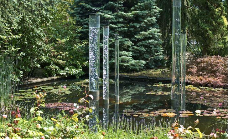 Bubblande vattenrör på Skovtroldens planteskole