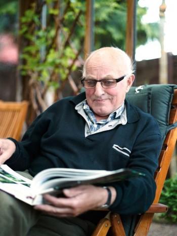 Trädgårdsmästare i fjärde generation är Nils-Olof Nilsson.