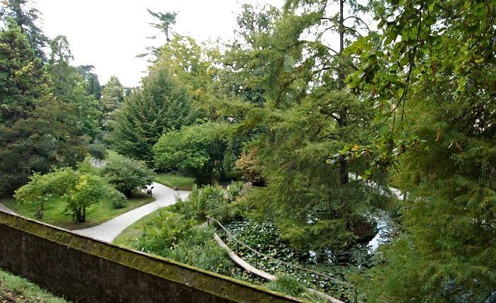 Orto Botanico Comunale di Lucca sedd från stadsmuren