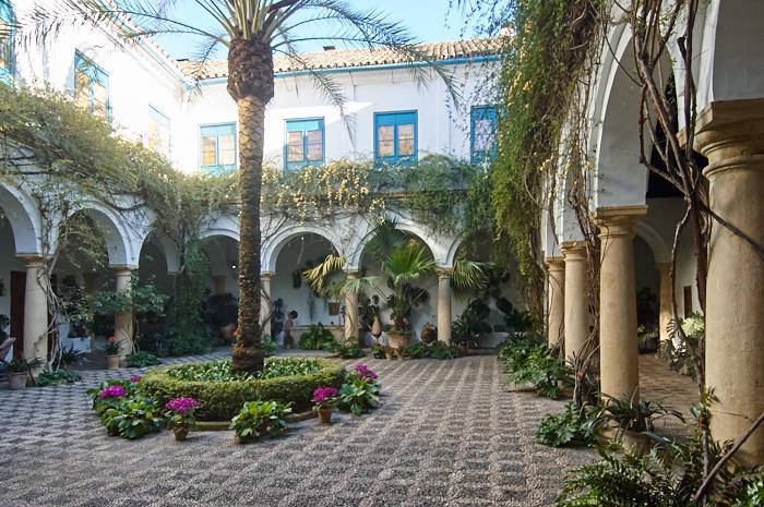 Les patios de Viana, Patio d'accueil