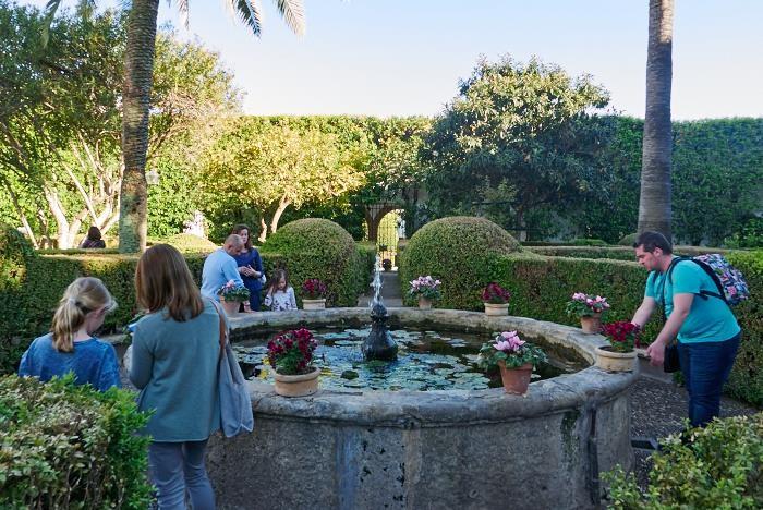 Les patios de Viana, Le jardin