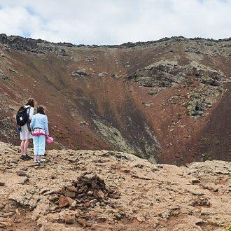 Klättra krater på Monte Corona