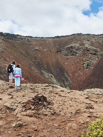 På vulkanens kant. Monte Corona, Lanzarote.
