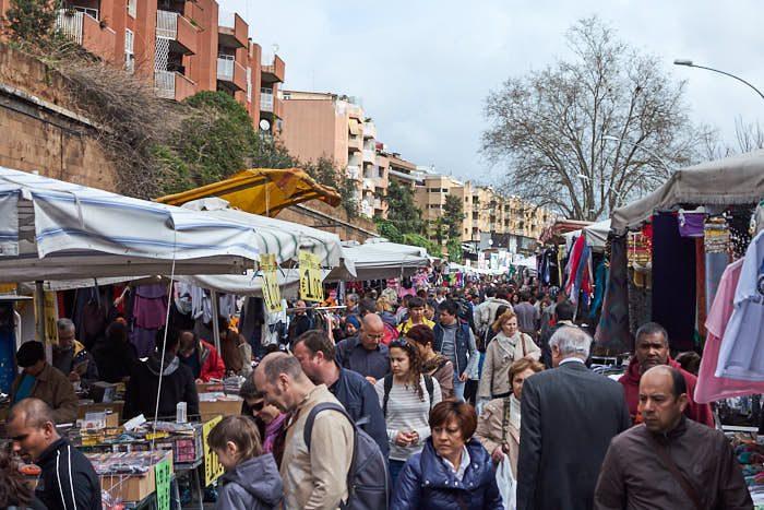 Porta Portese loppmarknad, Trastevere, Rom