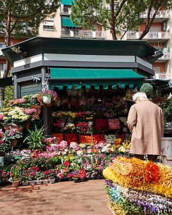 Blomsteraffär, Porta Portese loppmarknad