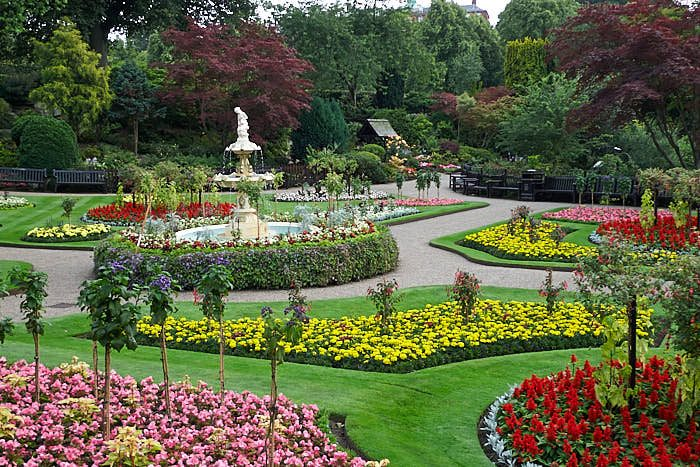 The Dingle i parken Quarry i Shrewsbury, Shropshire.